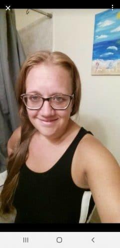 Selfie of woman in glasses